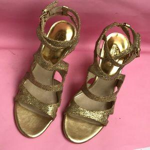 Gold Michael Kors heels